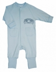 Plum- Pastel Blue Romper with Hot Rod Car 0000 left