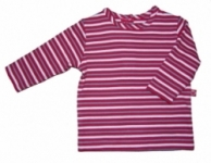 Plum-  T shirt Babushka Stripe Tee last one in  000