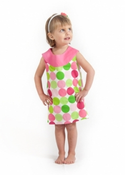 Vintage Kid- Disco Dot Yoke dress