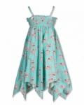 Vintage Kid- Pink Poodle Hankie Dress