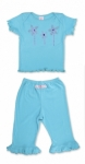 RuffleButts - Aqua Capri and Tee Set only sizes 3 and 4 left!