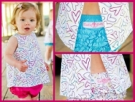 RuffleButts - Fluttering Hearts Swing Top size 18-24mths left!