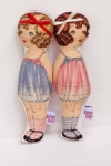 Retrobird -Mary Kate and Ashley rattle Dolls
