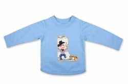 Vintage Kid - Lil Cowpokes Long Sleeve T In blue