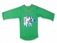 Vintage Kid - Green Elephant Long Sleeve Top