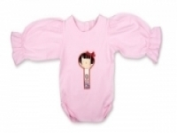 Vintage Kid - Yui Kosheshi Doll Long Sleeve Top Light Pink