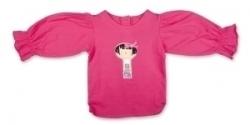 Vintage Kid - Yui Kosheshi Doll Long Sleeve Top Dark Pink
