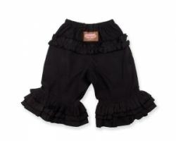 Vintage Kid - Black Long Ruffle Pants