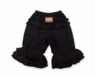 Vintage Kid - Black Long Ruffle Pants