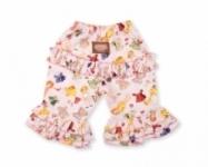 Vintage Kid - Pink Paper Doll Long Ruffle Pants