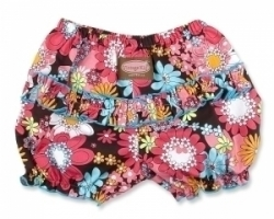 Vintage Kid - Peace Flower Ruffle Pants