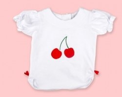Vintage Kid - Cherry Ruffle T