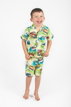 Vintage Kid - Transport Summer Pyjamas