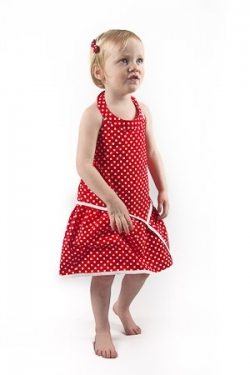 Vintage Kid - Red Dot Halter Neck Dress