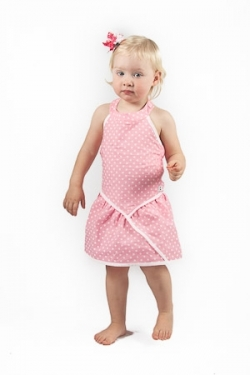 Vintage Kid - Pink Dot Halter Neck Dress