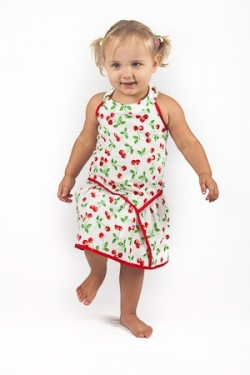 Vintage Kid - Cherry Halter neck Dress