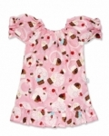 Vintage Kid - Pink Cupcakes Mini Party Dress