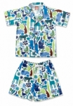Vintage Kid - Blue Zoo Summer Pyjamas