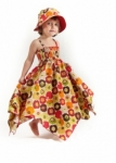 Vintage Kid - Vintage Apples Hankie Dress