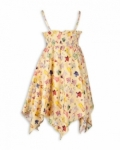 Vintage Kid - Yellow Paper Doll Hankie Dress