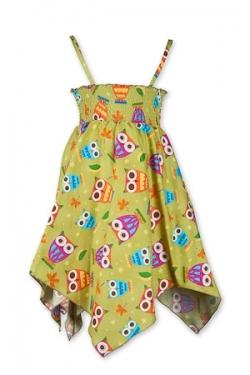 Vintage Kid - Owl Hankie Dress