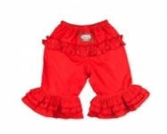 Vintage Kid - Long Red Ruffle Pants