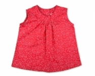 Vintage Kid - Red Swirls Swing Top