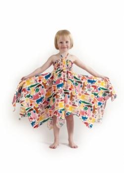 Vintage Kid - Pink Zoo Hankie Dress