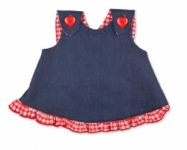 Vintage Kid - Denim Gigham Cross over swing top