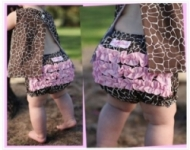 RuffleButts - Bloomer Giraffe Print size 2 left!