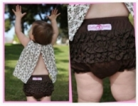 RuffleButts - Bloomers Woven Brown size 3-6 months left!
