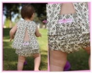RuffleButts - Bloomer Brown Birds Damask size 2 left!