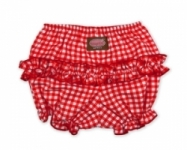 Vintage Kid - Red Gingham Short Ruffle Pants