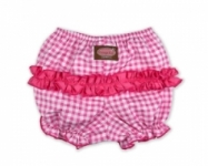 Vintage Kid - Pink Gingham Short Ruffle Pants