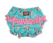 Vintage Kid - Pink Poodle Short Ruffle Pants