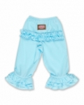 Vintage Kid - Light Blue Long Ruffle Pants