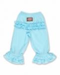 Vintage Kid - Light Blue Long Ruffle Pants