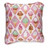 Vintage Kid - Pink Ice Creams Pillow