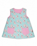 Vintage Kid - Pink Poodles Fully Reversible Pinafore