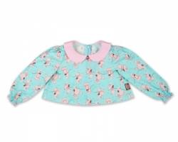 Vintage Kid - Pink Poodles Blouse