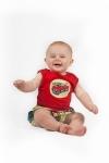 Vintage Kid - Tricyle Singlet in red