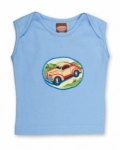 Vintage Kid - Blue Singlet with Car