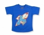 Vintage Kid - Retro Space T in Royal Blue