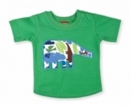 Vintage Kid - Green Elephant T shirt