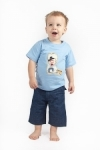 Vintage Kid - Lil Cowpokes T Shirt in light blue