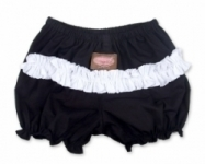 Vintage Kid - Black Ruffle nappy cover with white ruffle