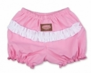 Vintage Kid - Ruffle Pants in light pink with white ruffle