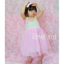 Light Pink Chiffon Lace Party Dress