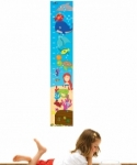 Bosco Bear - Under the Sea Height Chart Wall Sticker