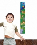Bosco Bear - Jungle Height Chart Wall Sticker